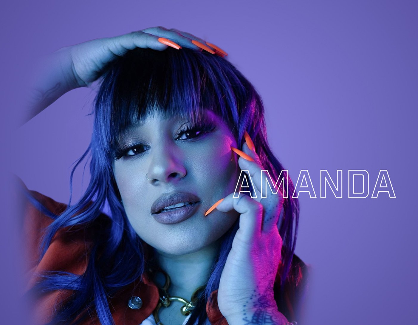 Amanda - Mobile Header with Logo