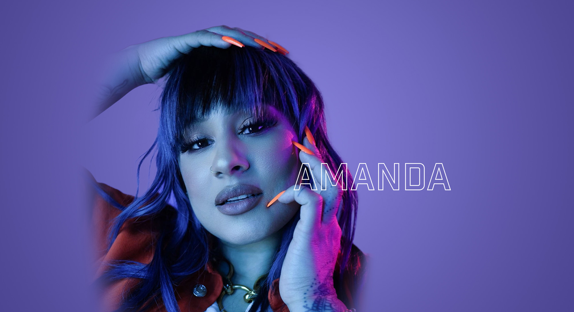 Amanda - Header with Logo